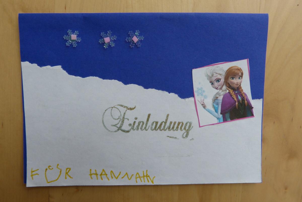 Eiskönigin-Einladung 2
