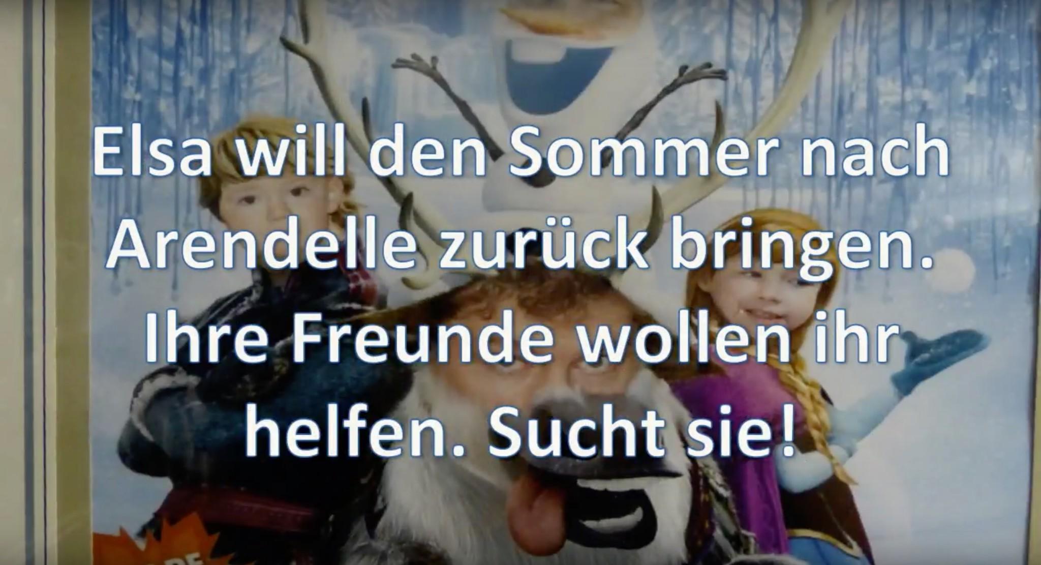 Schnitzeljagd à la Eiskönigin
