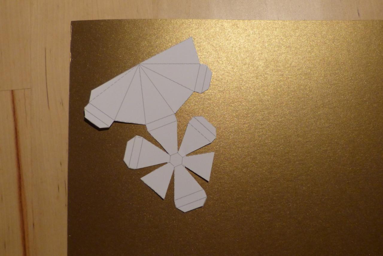 Diamanten aus Papier basteln
