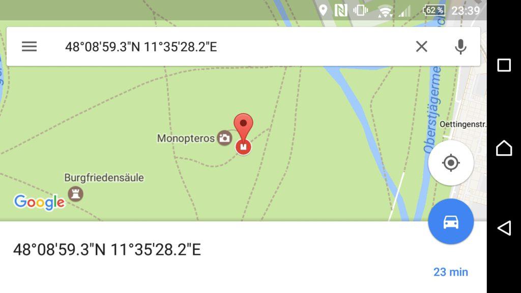 Mit Google Maps navigiert ihr zum nächsten Punkt der Schnitzeljagd