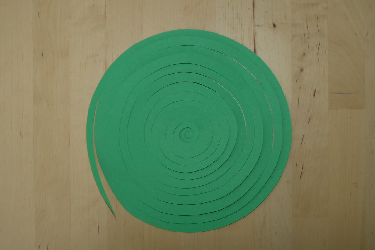 Spiral-Girlande basteln