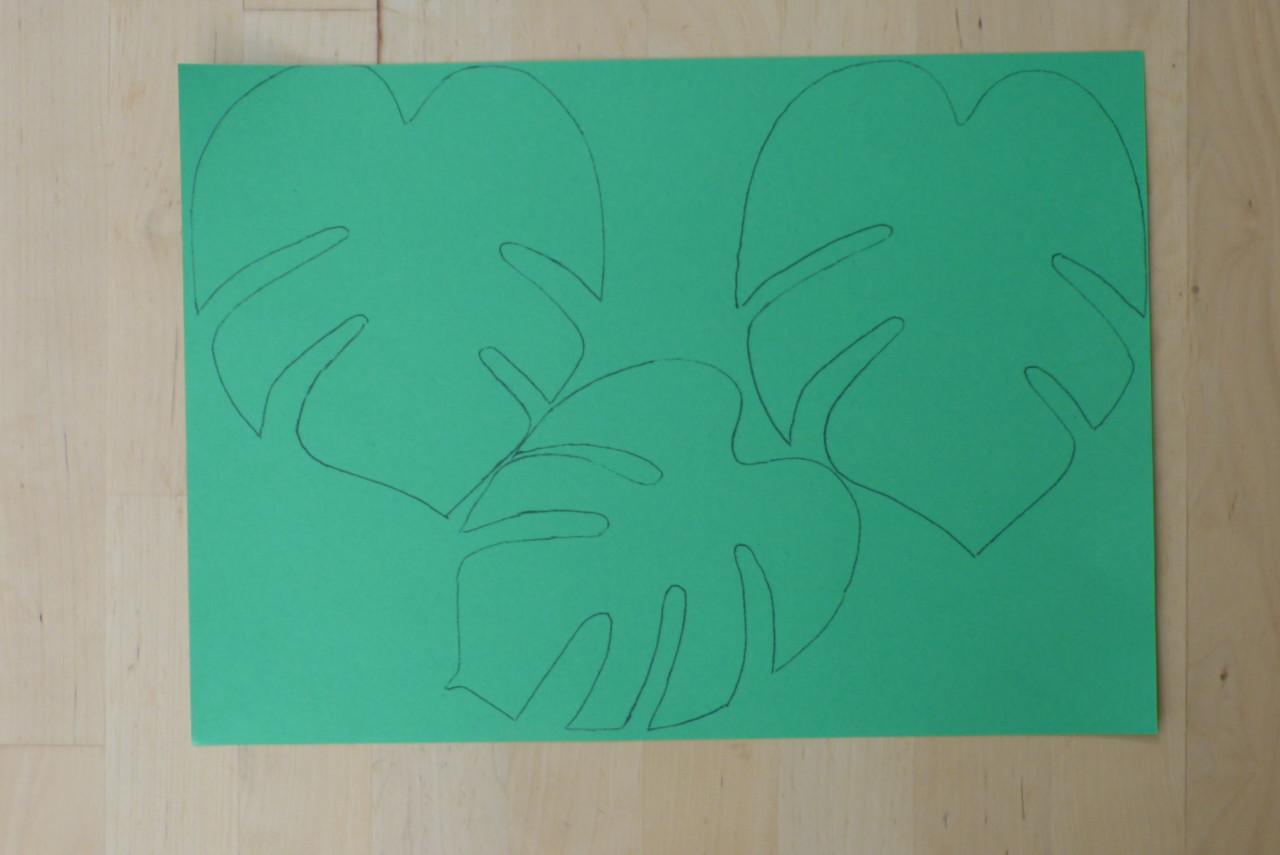 Urwald-Girlande basteln