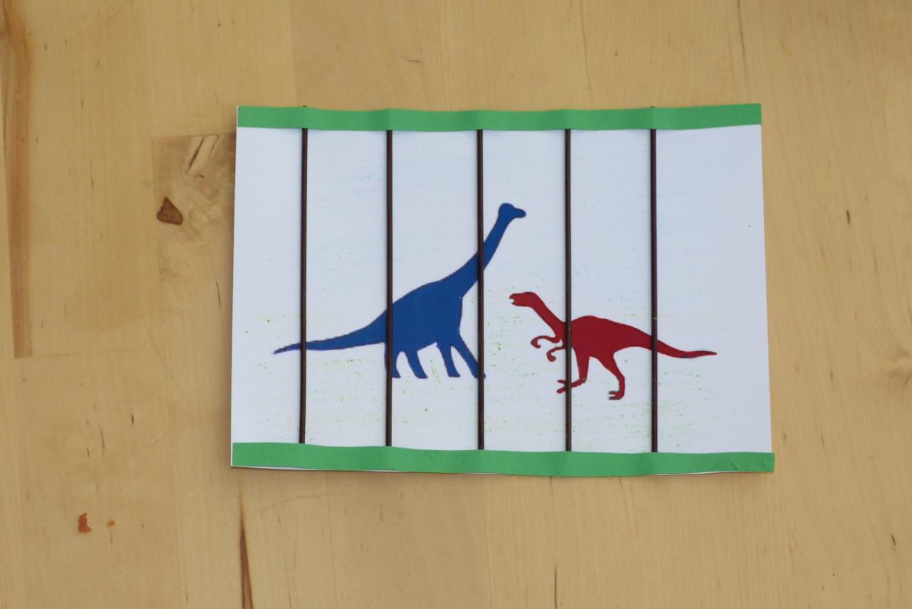 Dinosaurier-Einladung