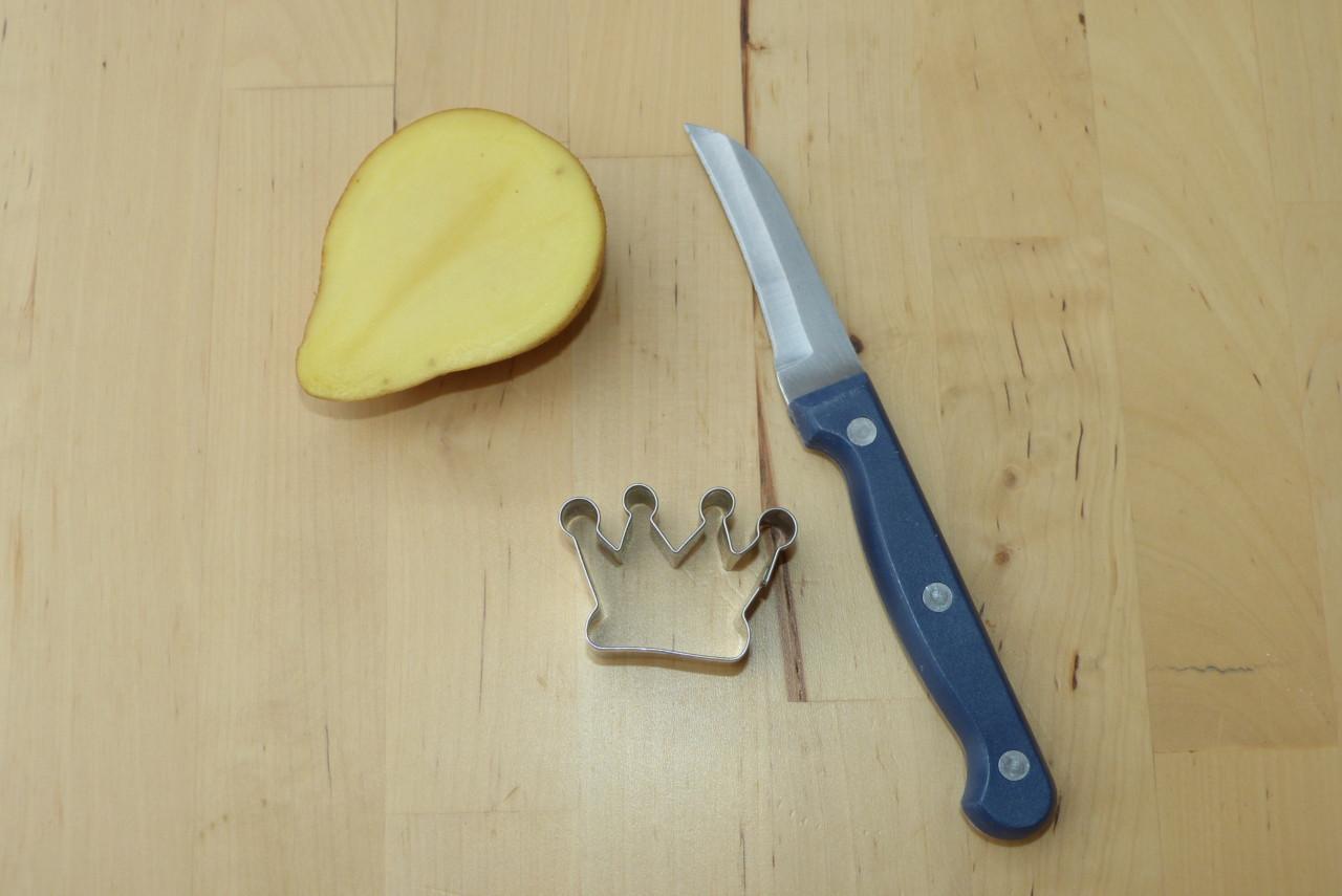Kartoffelstempel einfach und schnell selber machen