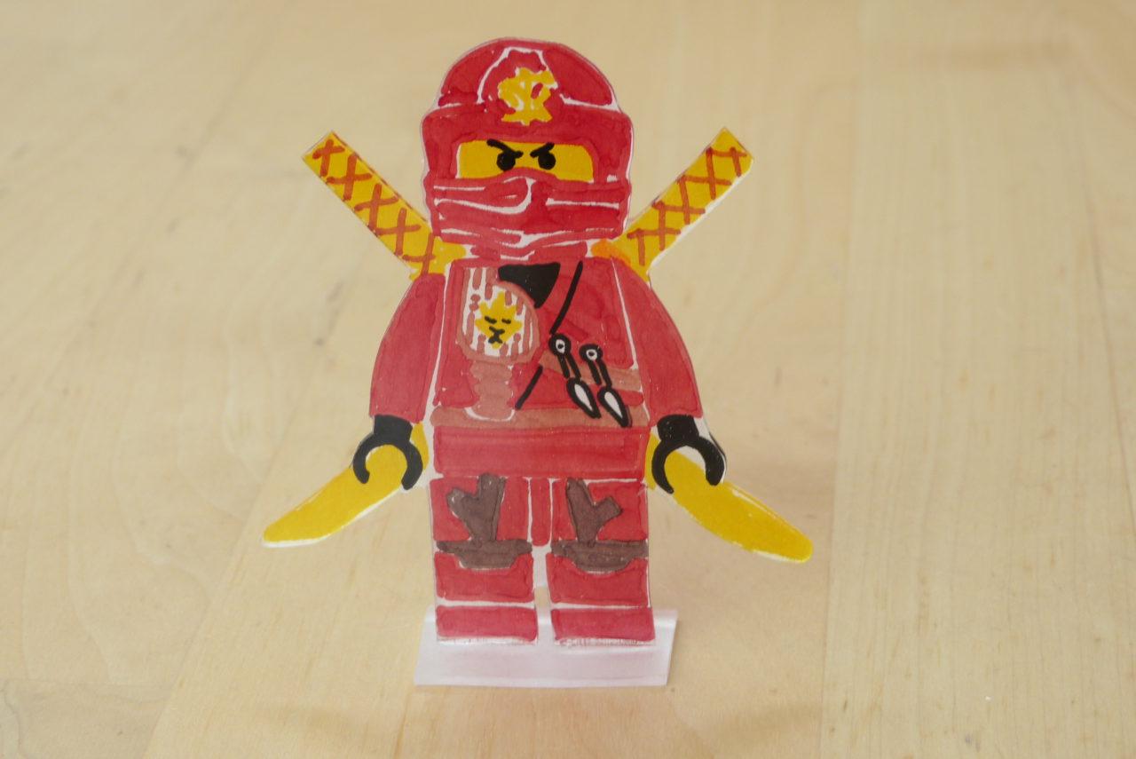 Ninja-Plastik-Aufsteller