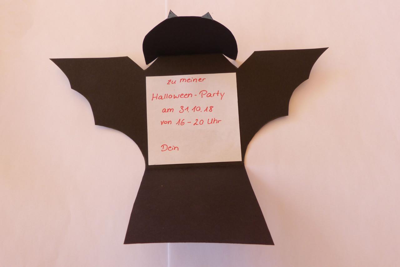 Fledermaus-Einladung