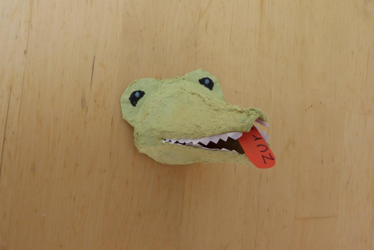 """Dschungel-Einladung """"Krokodil"""""""