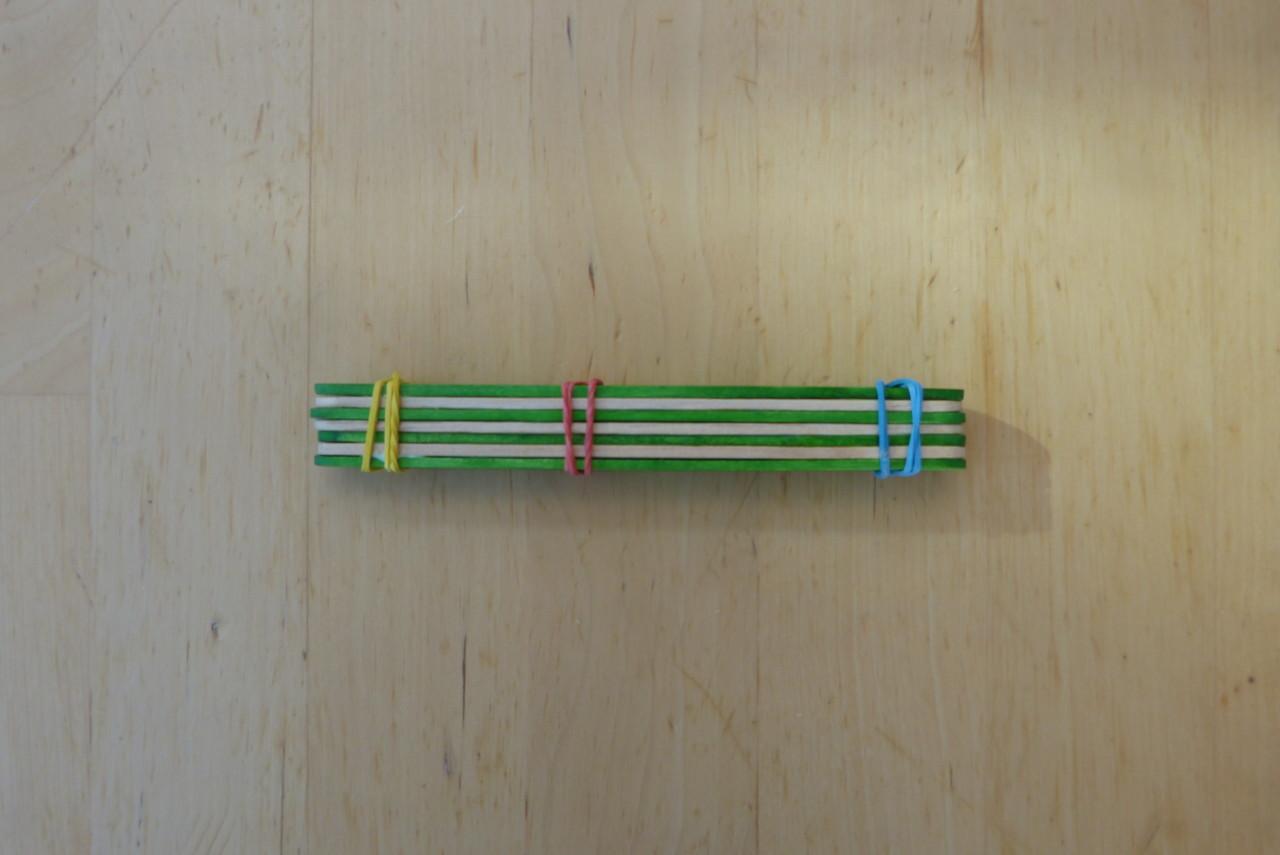 Katapulte aus Holzspatel
